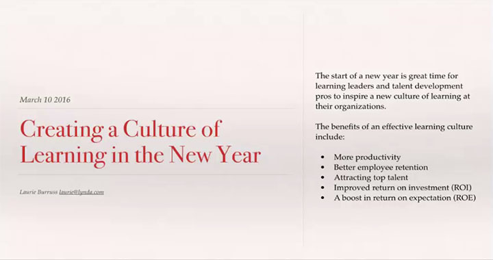 Creating a Culture of Learning in the New Year
