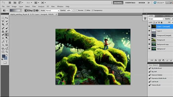 Creating a Digital Painting with Photoshop CS5