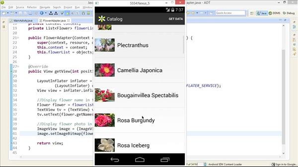 Android web service tutorial mvc