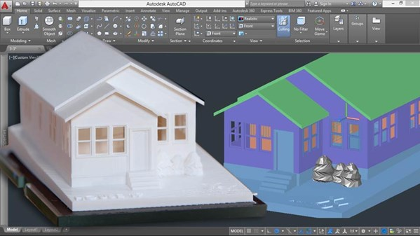 3d printing a scale model with autocad Cad models