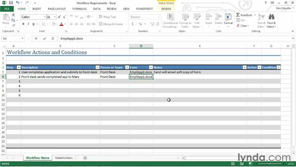 Workflow Excel Template