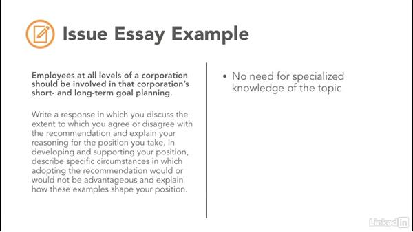Analyzing an issue sample essay gre
