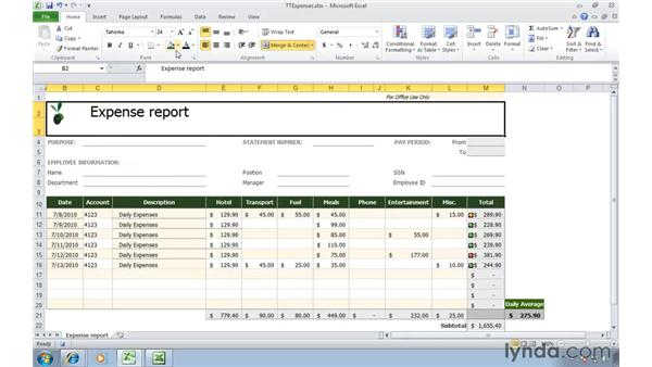 Macro Templates For Excel