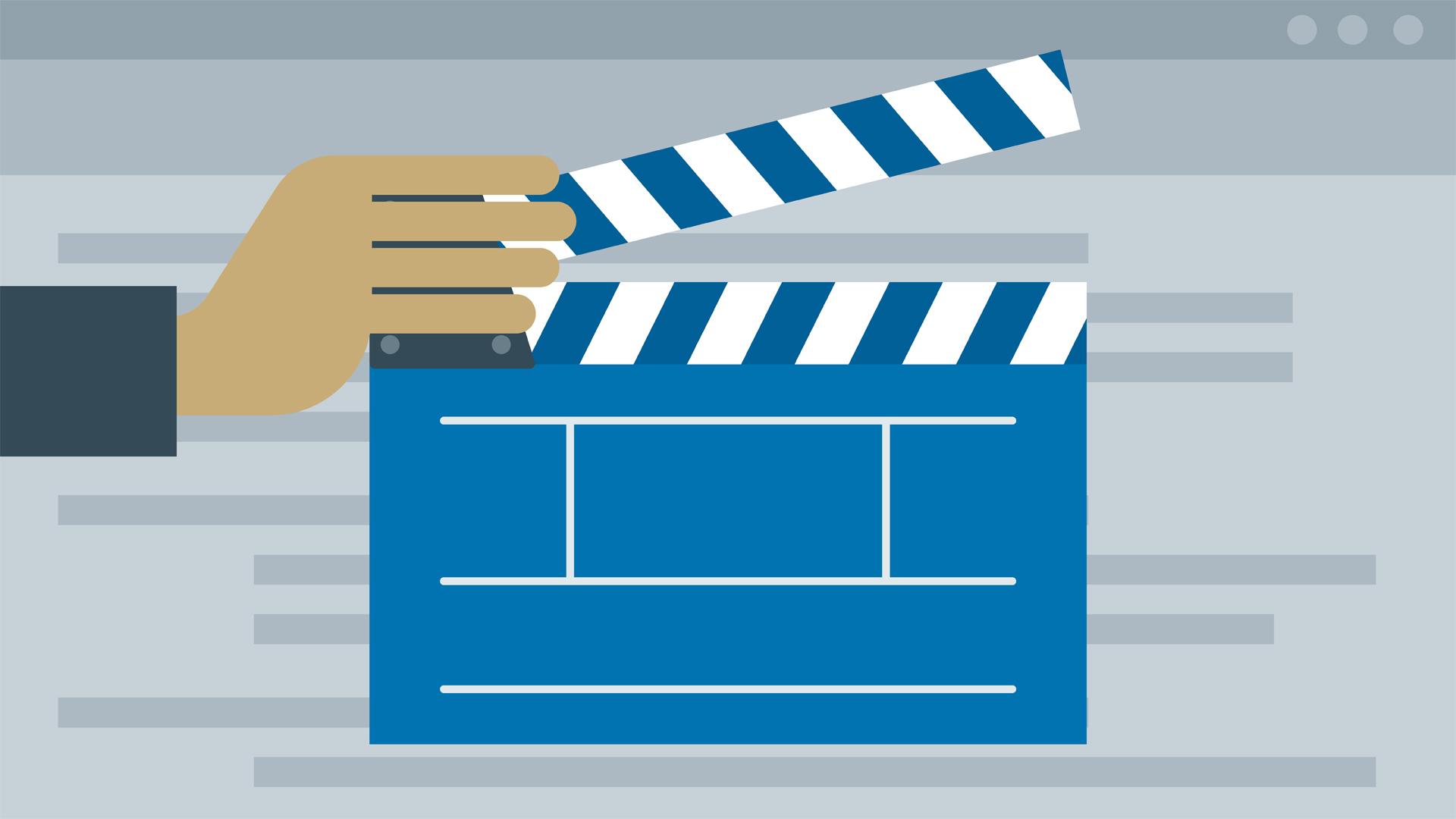 Illustration of a film clapboard