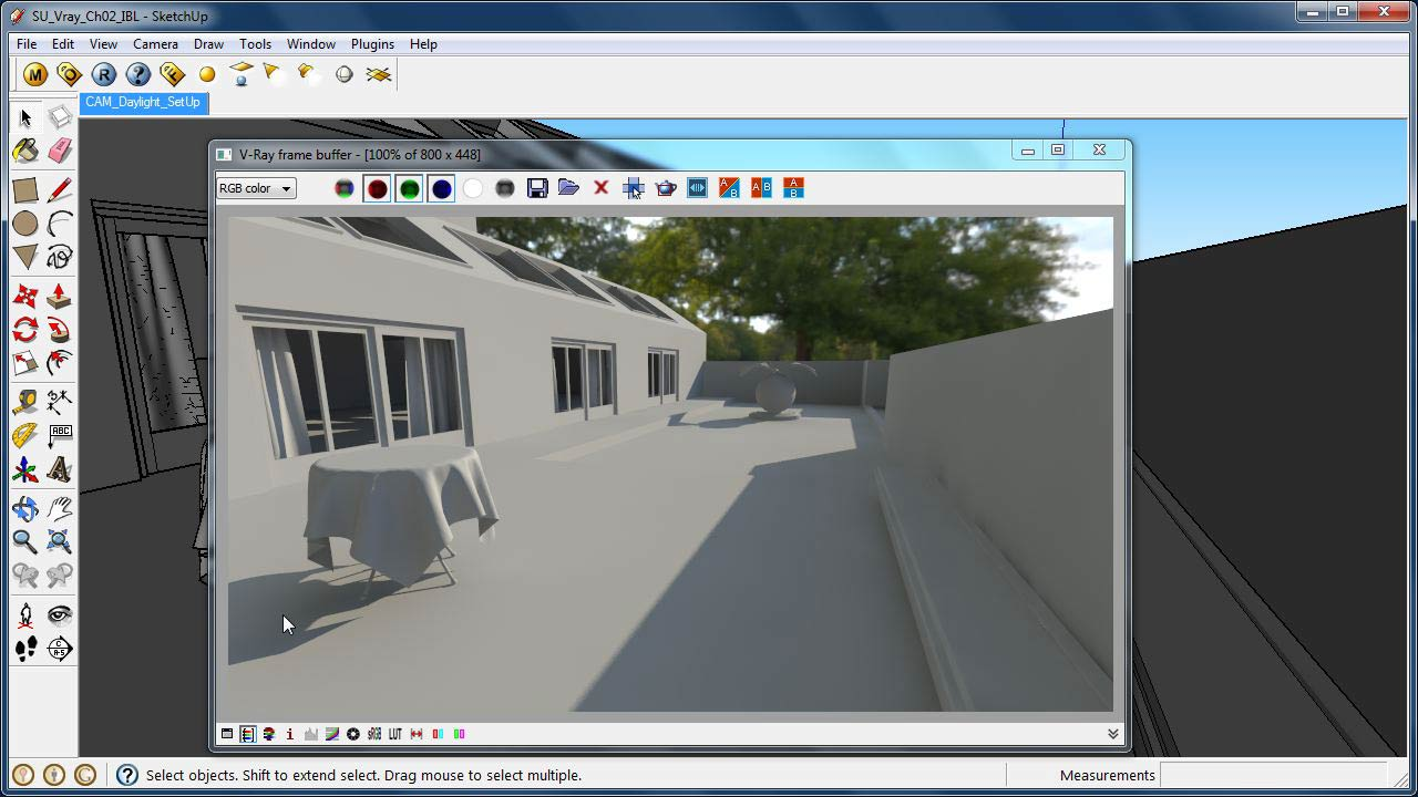 Sketchup rendering with v ray