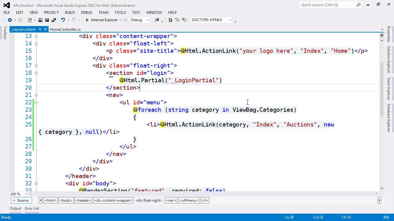 : ASP.NET MVC 4 Essential Training