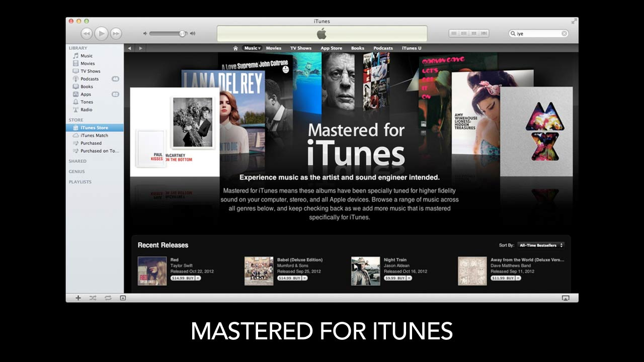Welcome: Mastering for iTunes