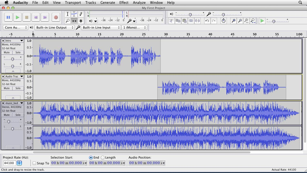 Welcome: Up and Running with Audacity
