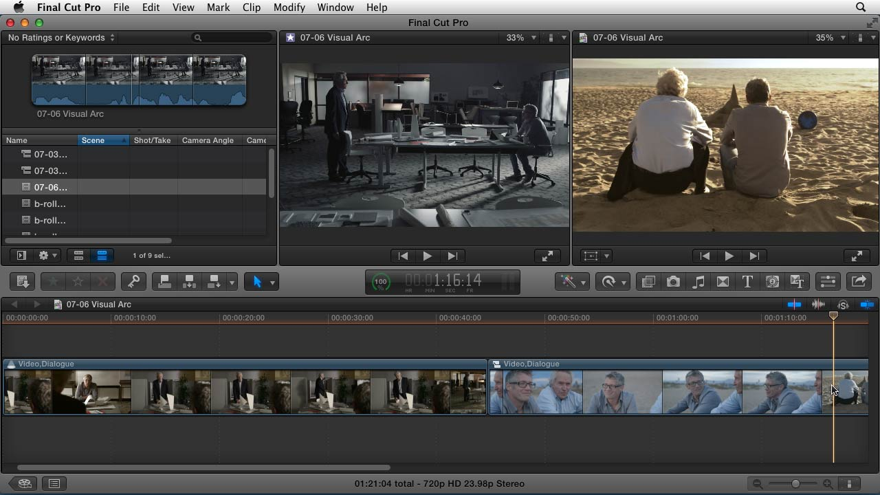 Welcome: Narrative Scene Editing with Final Cut Pro X v10.0.9