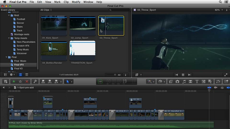 : Commercial Editing Techniques with Final Cut Pro X v10.0.9