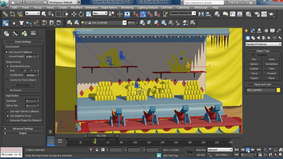 Welcome: Creating Simulations in MassFX and 3ds Max