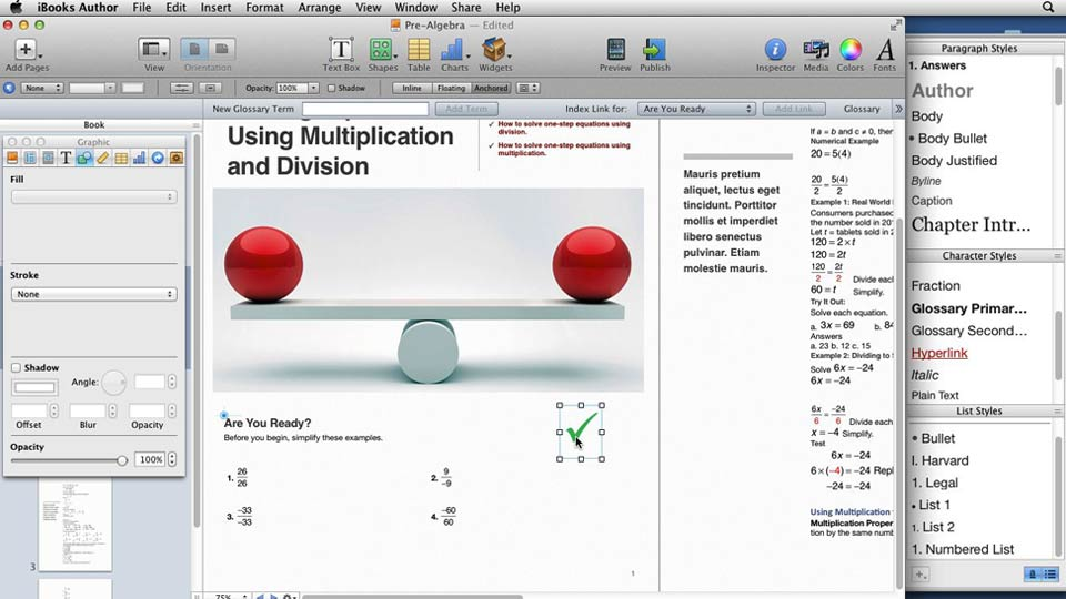 Welcome: iBooks Author for Teachers: Creating a Math Lesson
