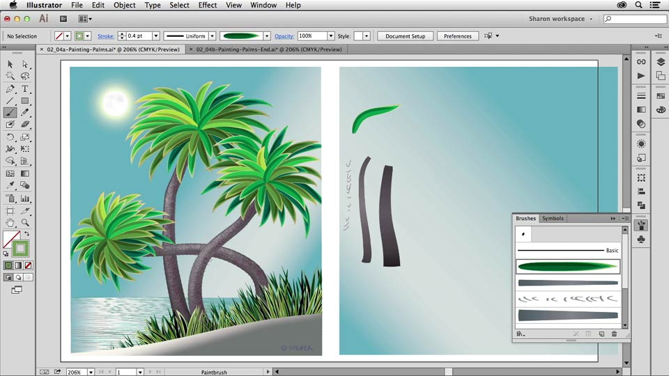 Welcome: Artistic Painting with Illustrator: Object-Creation Brushes