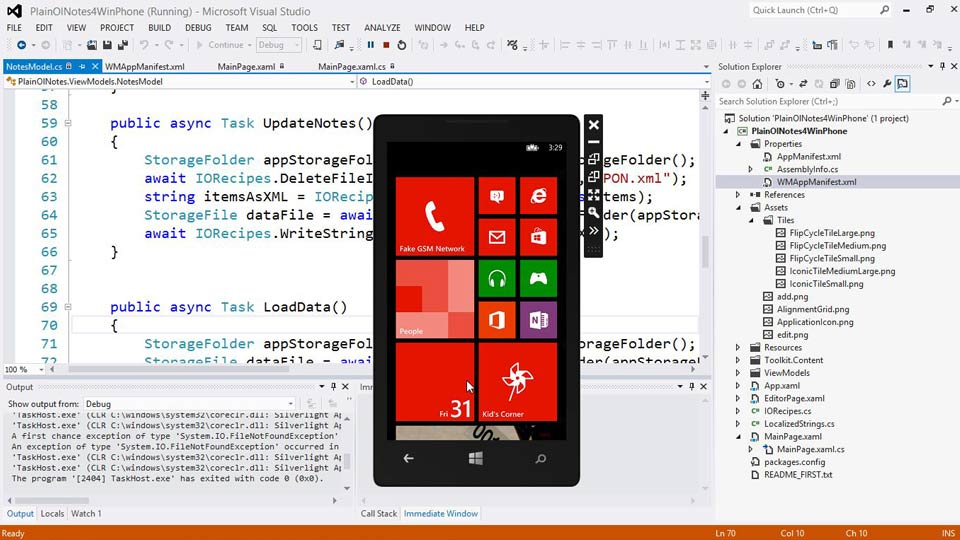: Building a Note-Taking App for Windows Phone 8 and Windows Store