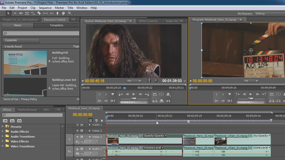 Welcome: Premiere Pro CS5 for Avid Editors