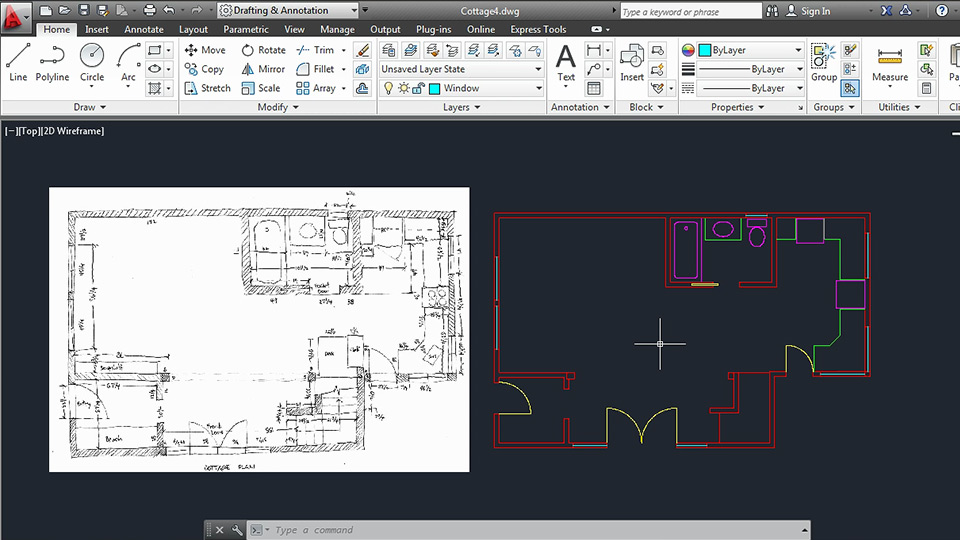Creating an architectural drawing with autocad 2013 malvernweather Image collections