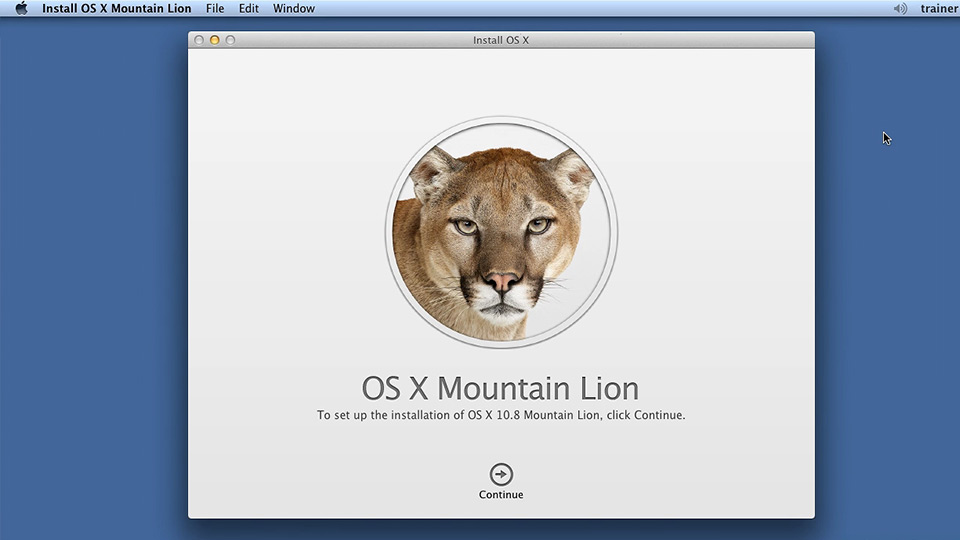 Welcome: Up and Running with Mac OS X Mountain Lion