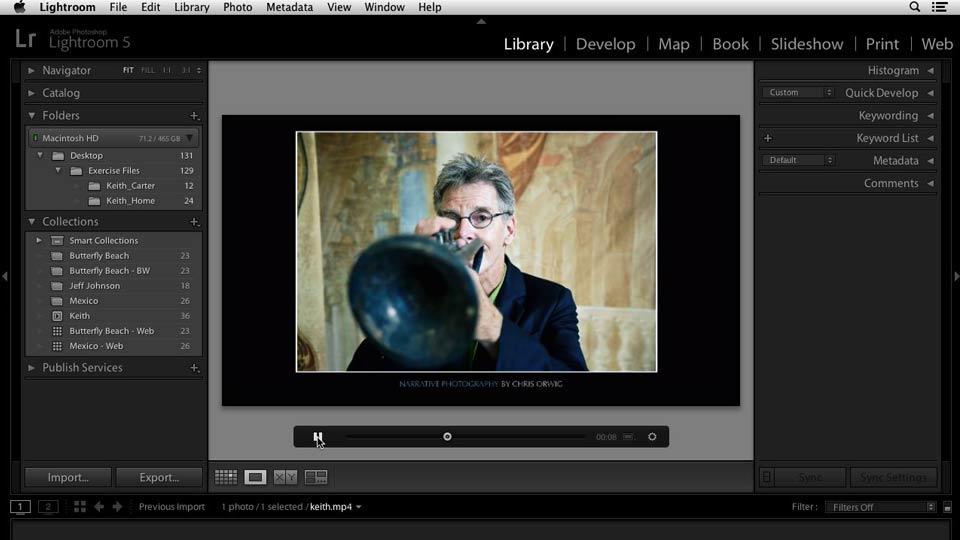 Lightroom 5: 4 Creating Slideshows