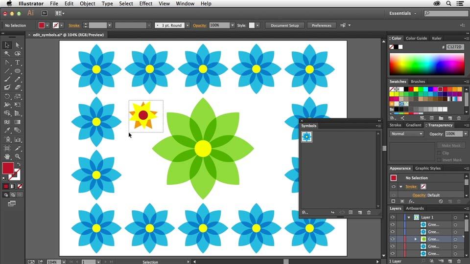 : Using Symbols in Illustrator
