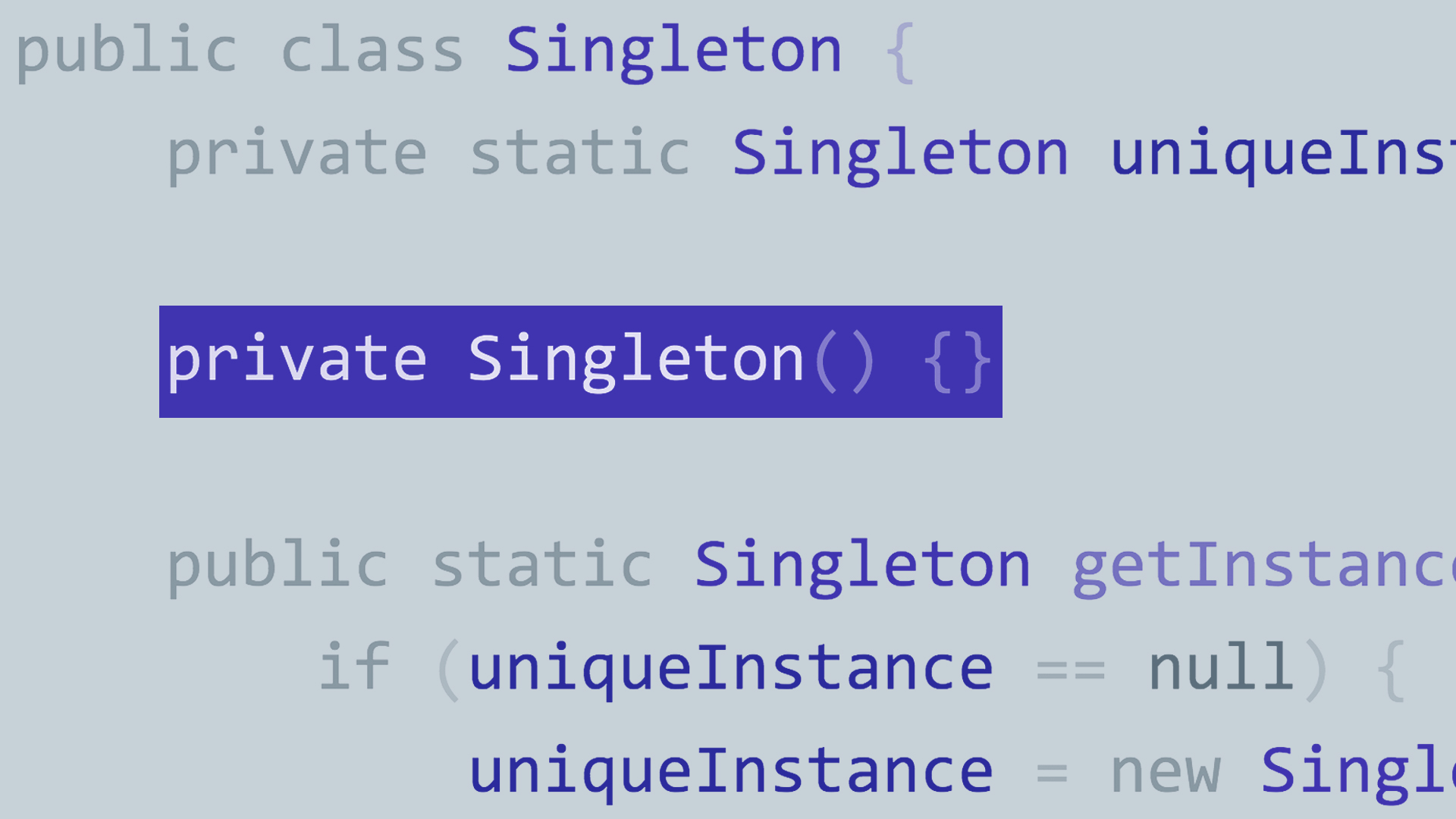 Singleton Pattern Java Unique Inspiration Design