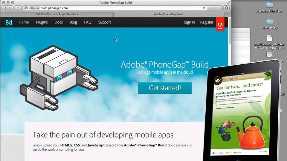 Previewing the final project: Creating an iPad App with HTML5 and PhoneGap Build