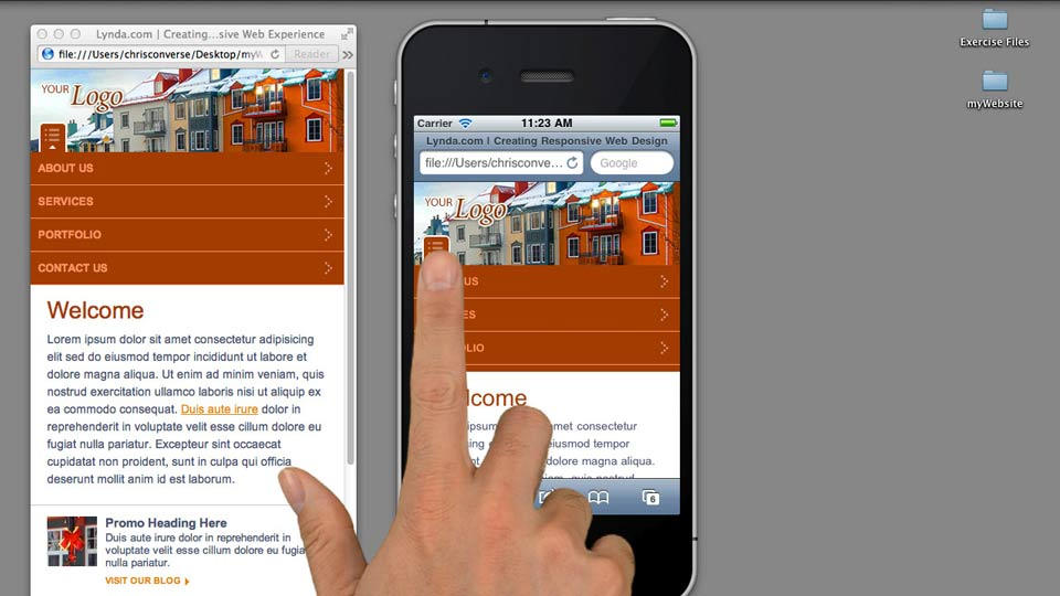 Preview the final project: Creating a Responsive Web Experience