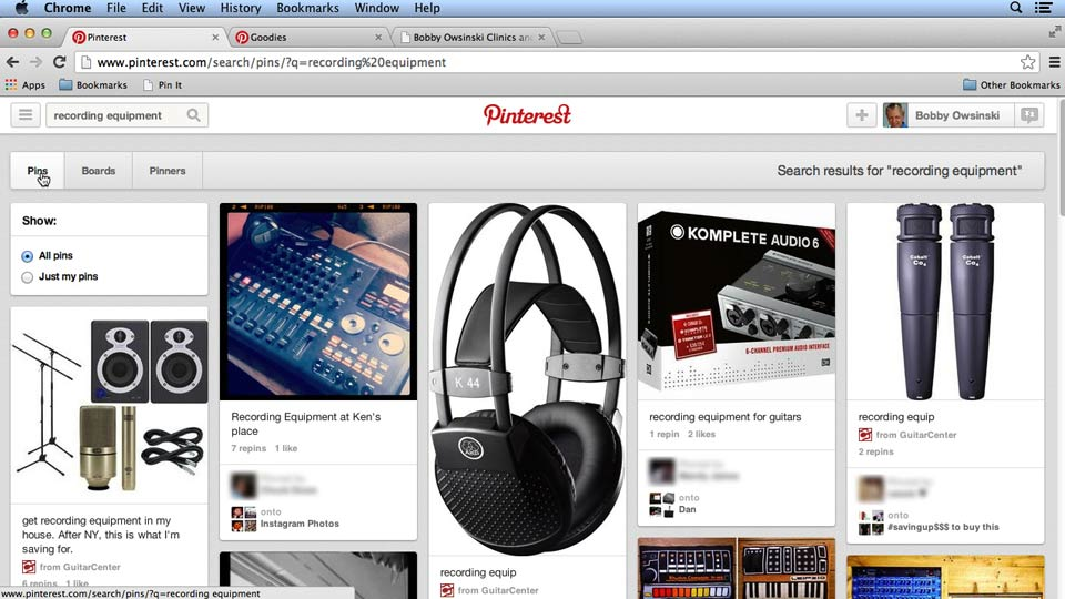 Welcome: Pinterest for Musicians and Bands