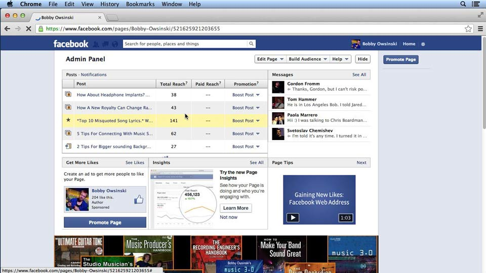 Welcome: Facebook for Musicians and Bands