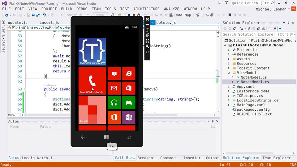 Welcome: Using Windows Azure with Windows Phone 8