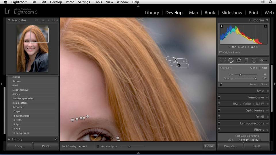 Welcome: Enhancing a Portrait of a Young Woman in Lightroom