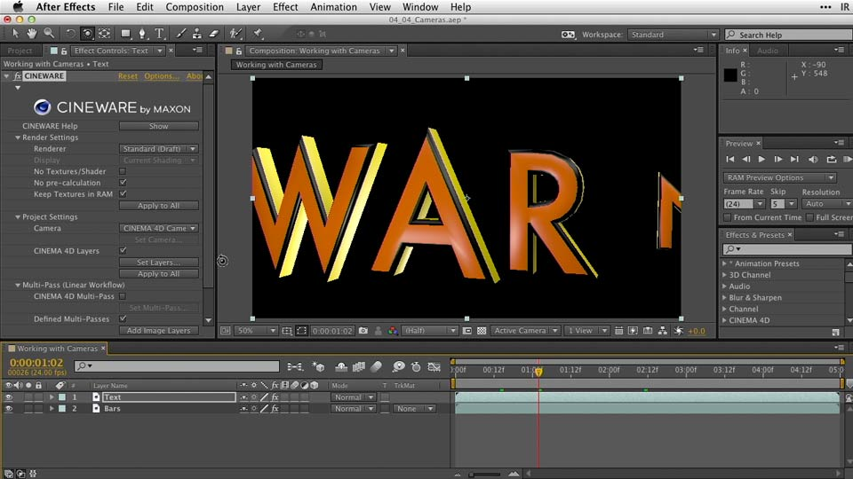 : After Effects Guru: Working with 3D in C4D Lite
