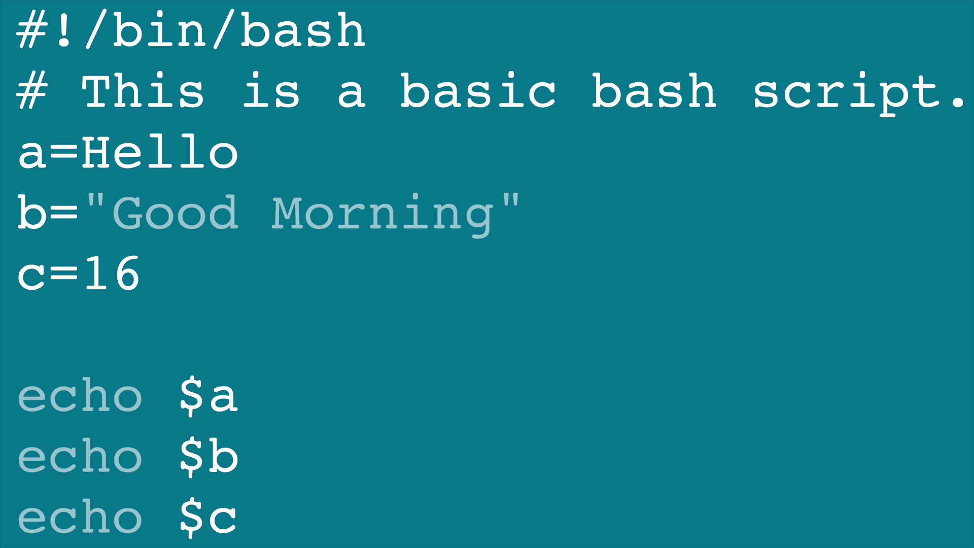 Learning Bash Scripting
