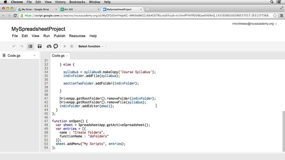 Welcome: Up and Running with Google Apps Script (2013)