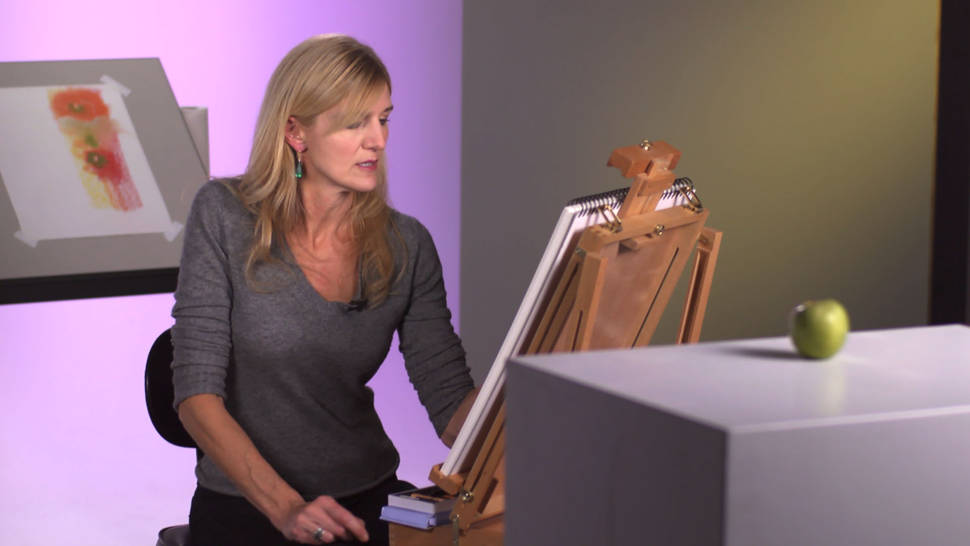 Establishing value: Artist at Work: Complementary Colors