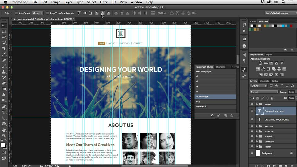 Welcome: Photoshop CC for Web Design