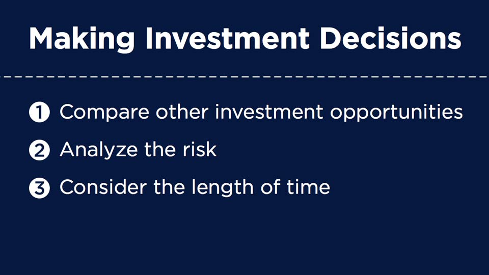 Welcome: Making Investment Decisions
