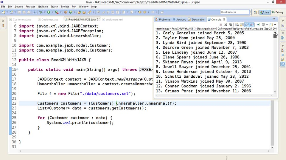 Welcome: XML Integration with Java