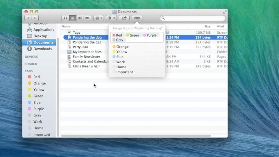 Welcome: Mac OS X Mavericks New Features