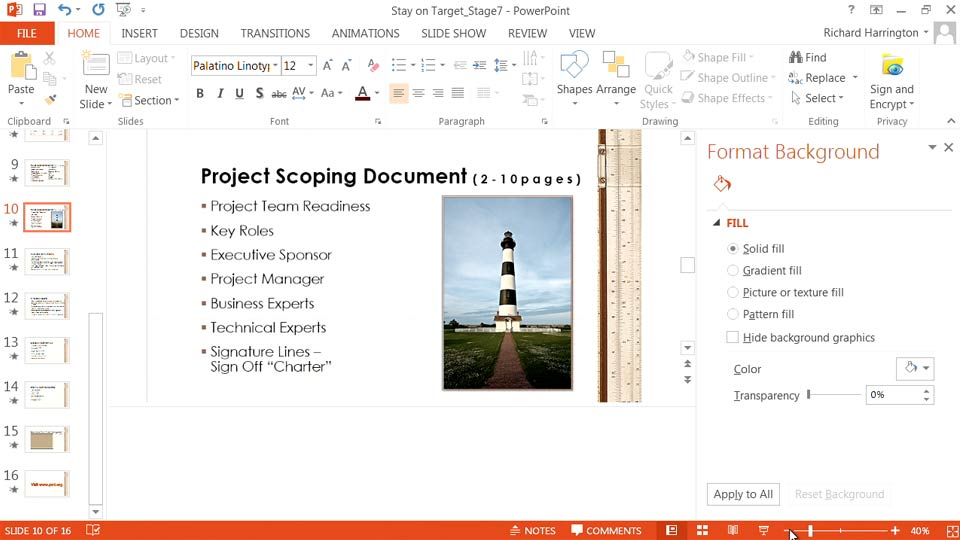 Welcome: PowerPoint: From Outline to Presentation