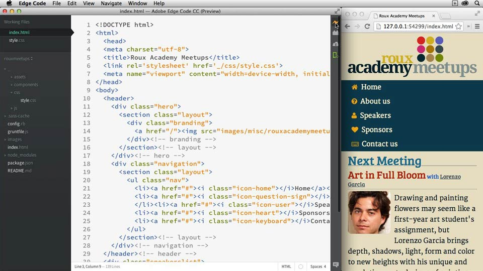 Welcome: Adobe Edge Code and Brackets: First Look