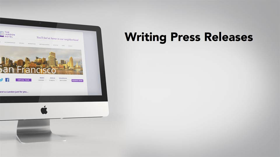 Welcome: Writing Press Releases