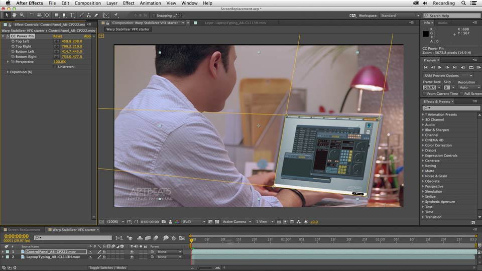 : Screen Replacement with After Effects and mocha AE