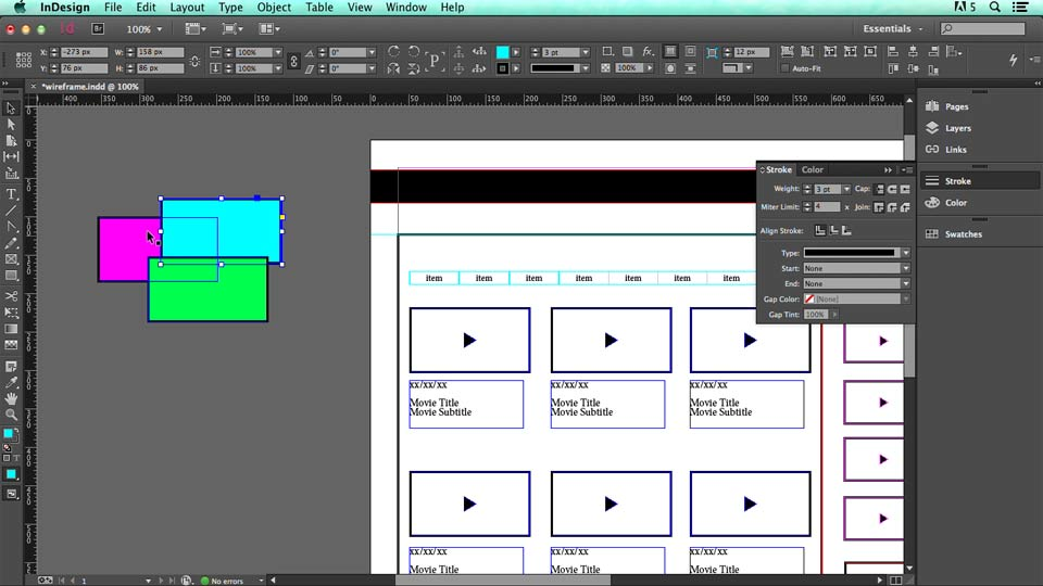 how to clear guides on indesign