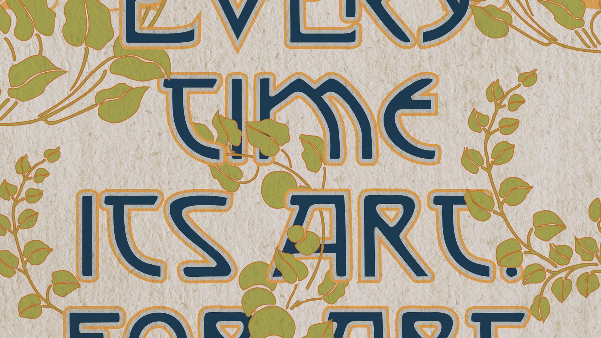 designing a typographic art nouveau poster