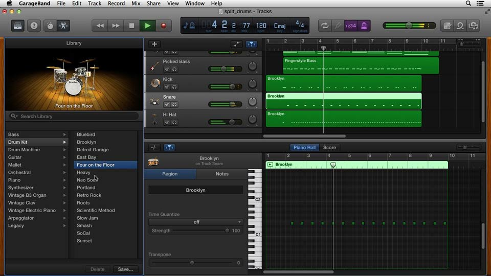 Using the new synths in 10.1.0: GarageBand Essential Training