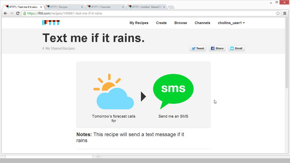 Welcome: Up and Running with IFTTT