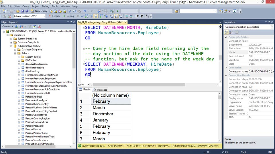Querying microsoft sql server 2012 - How to find a table in sql server management studio ...