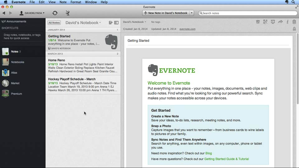 : Up and Running with Evernote for Mac (2014)