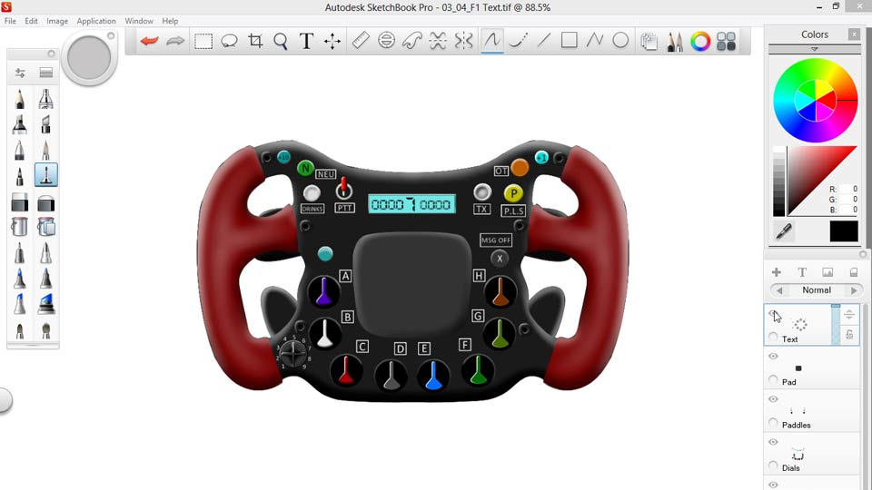 Welcome: Sketching an F1 Wheel with SketchBook Pro