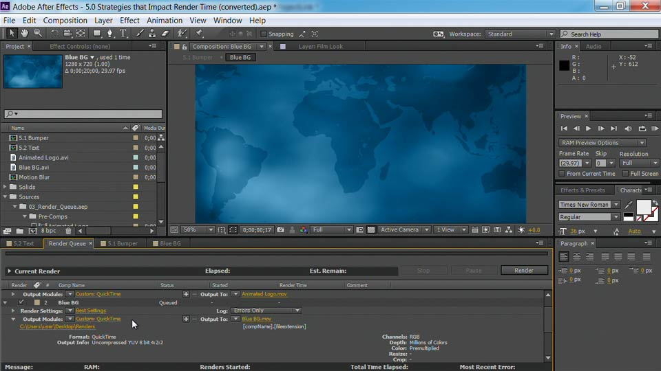 Welcome: After Effects Guru: Faster Previews and Rendering